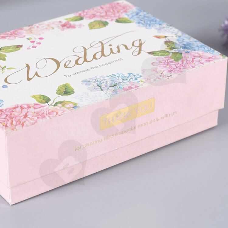 Custom Printed Gift Box For Wedding Perfume side view three