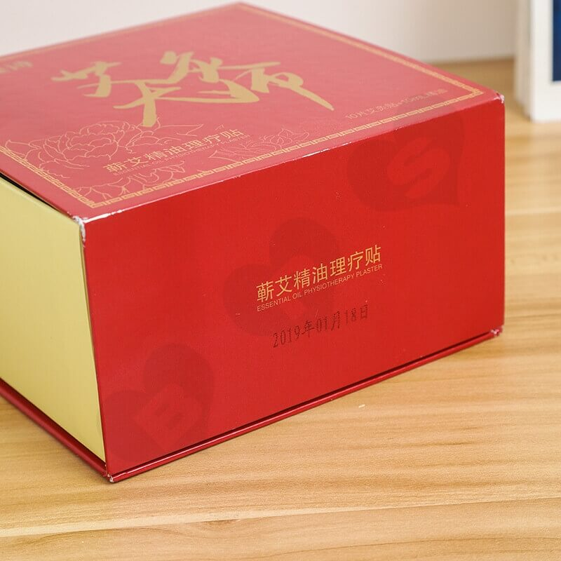 Custom Printed Magnetic Closure Box For Physiotherapy Plaster side view three