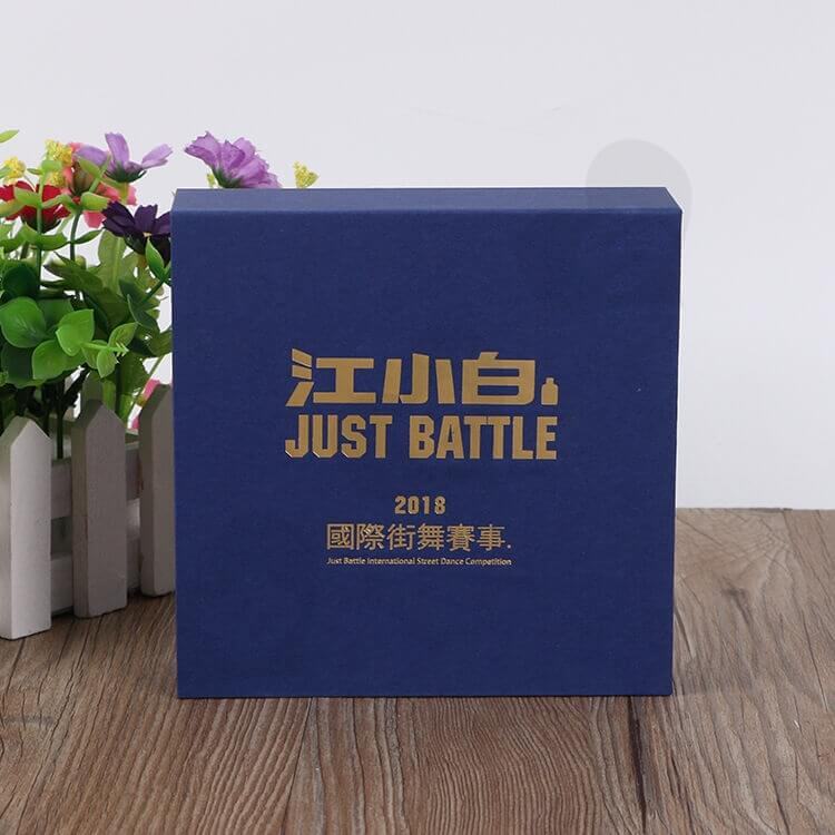 Custom Printed Magnetic Closure Gift Box For Medal side view three