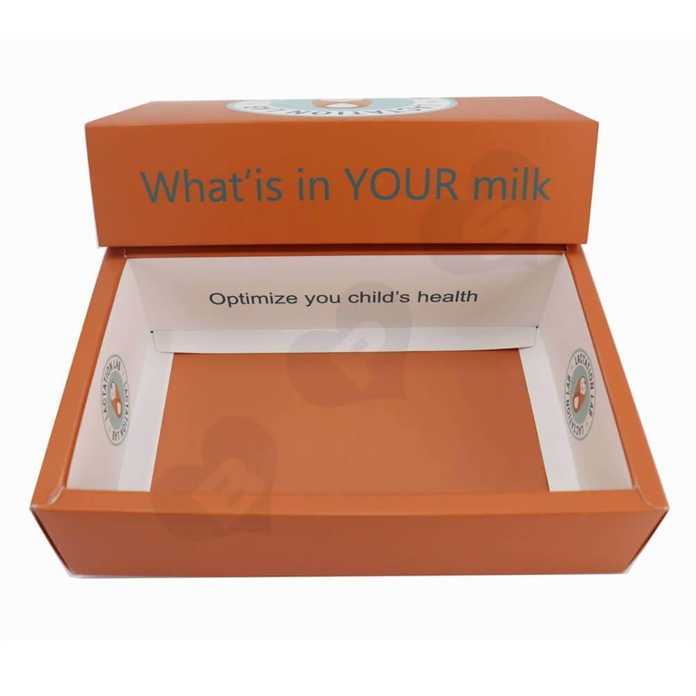 Custom Printed Paperboard Nutrition Packaging Drawer Box side view three