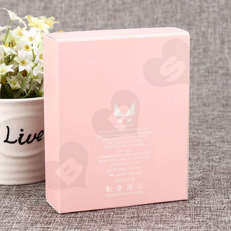 Custom Printed Perfume Box Pink Color side view four