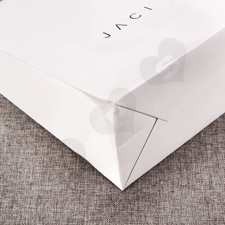 Custom Printed White Cardboard Shopping Bag side view five