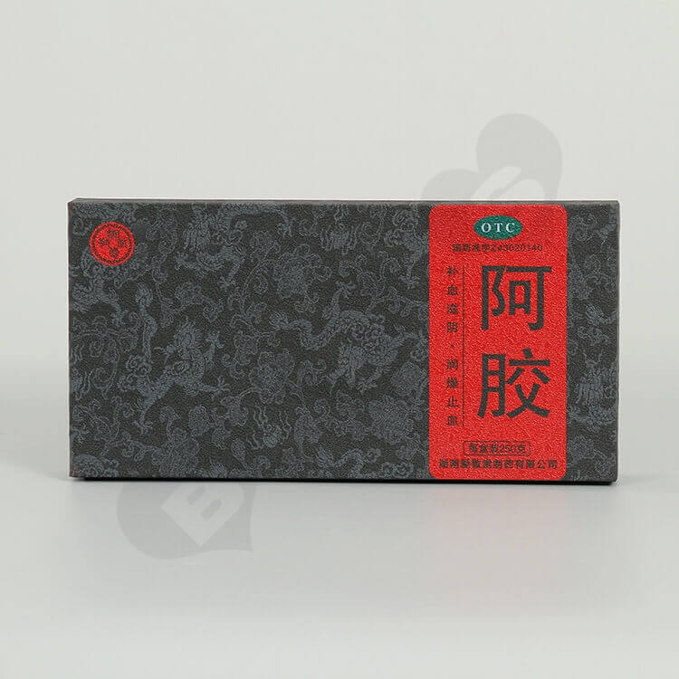 Custom Printing Cardboard Box For Donkey-hide Gelatin side view four