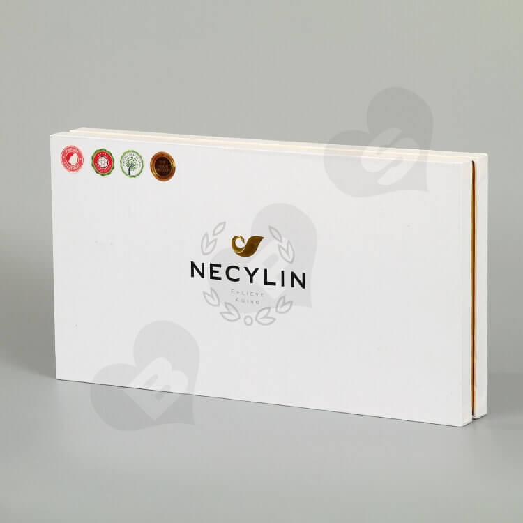 Custom Printing Cardboard Box For Skin Repair Kit Bottle side view one