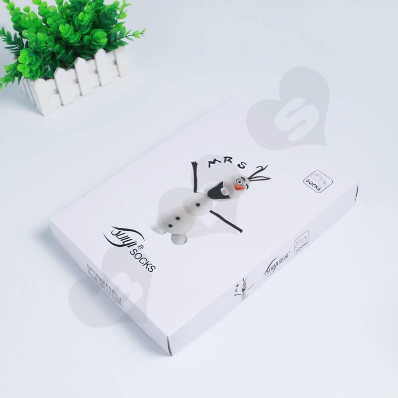Custom Printing Cardboard Box For Socks side view eight