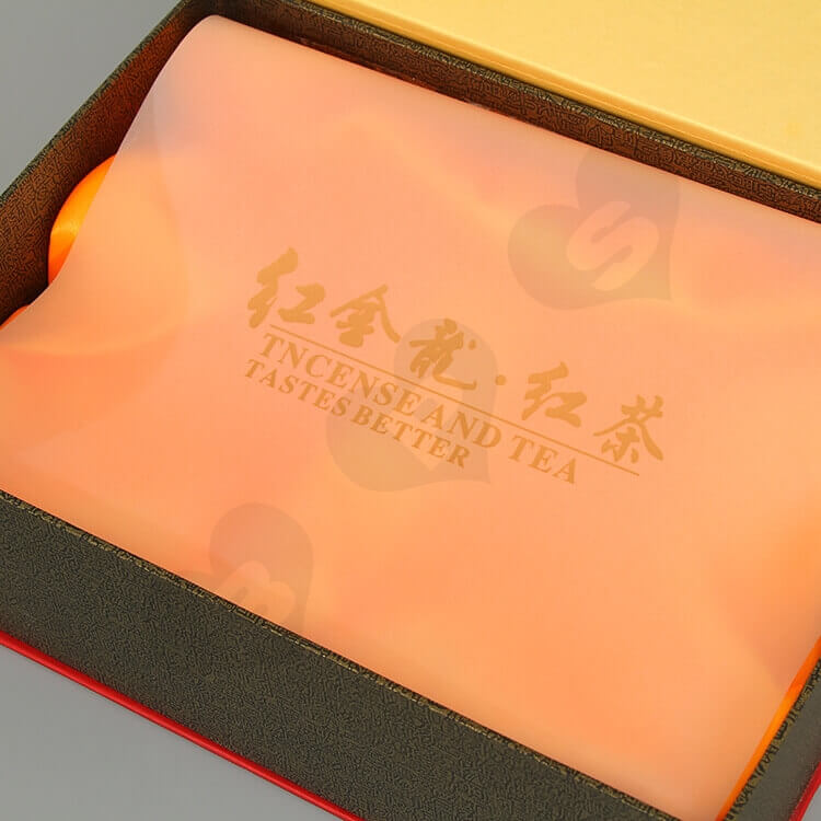Custom Printing Cardboard Gift Box For Red Tea side view six