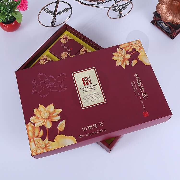 Custom Printing Cardboard Gift Box With Paper Bag For Cakes side view eight