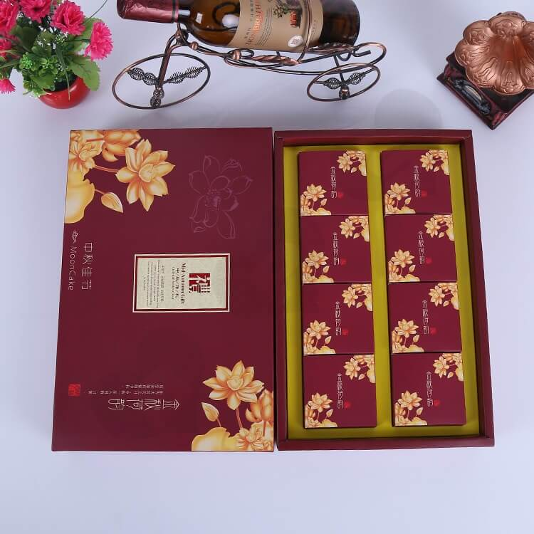 Custom Printing Cardboard Gift Box With Paper Bag For Cakes side view four