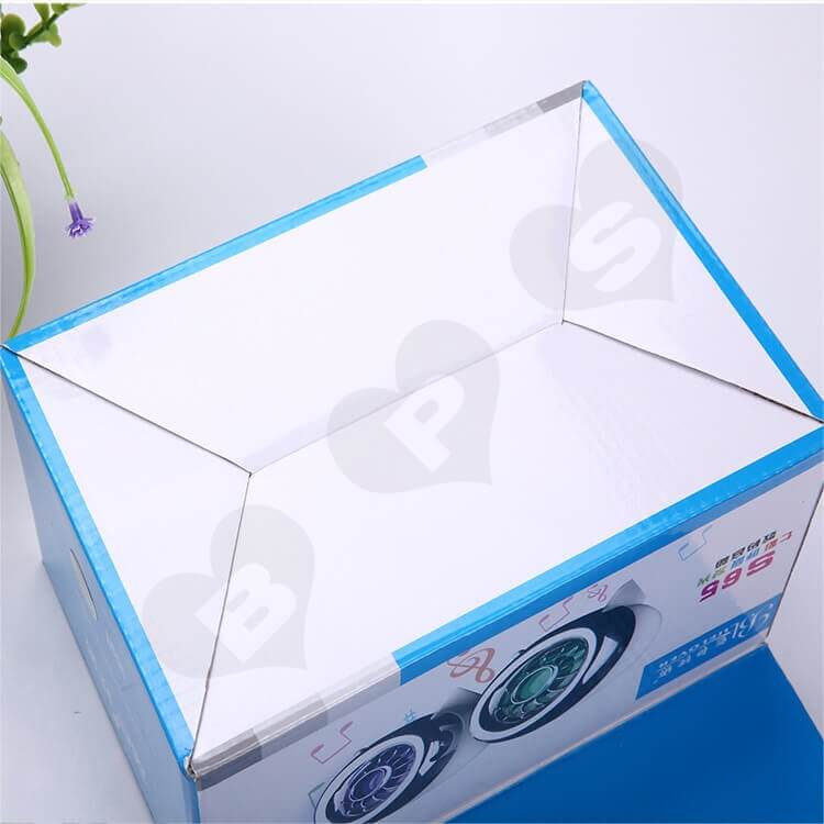 Custom Printing Corrugated Paper Box For Loudspeaker side view five