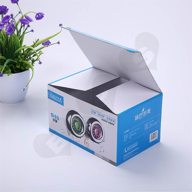 Custom Printing Corrugated Paper Box For Loudspeaker side view one