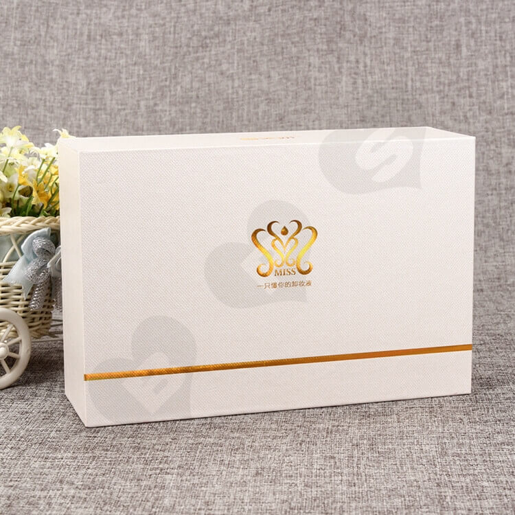 Custom Printing Cosmetic Drawer Box For Makeup Remover side view four