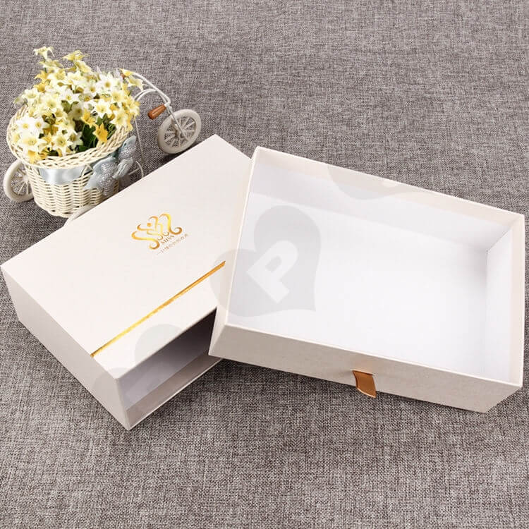 Custom Printing Cosmetic Drawer Box For Makeup Remover side view three