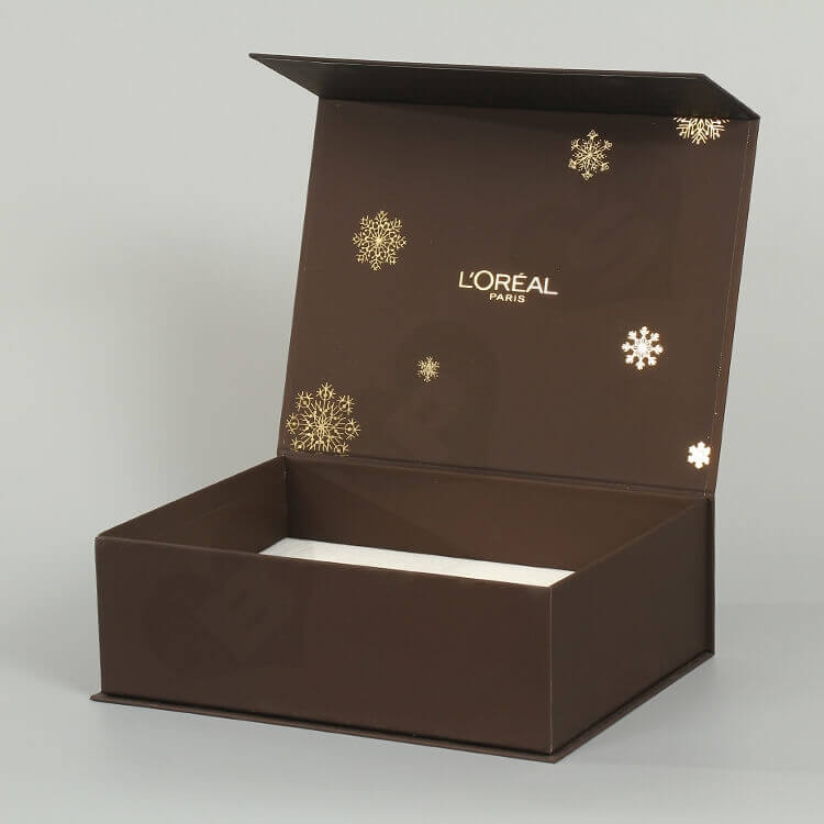 Custom Printing Cosmetic Set Magnetic Closure Box side view one