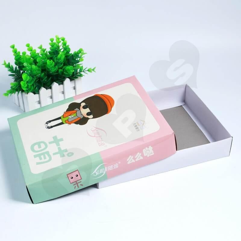 Custom Printing Duplex Paper Box For Socks side view six