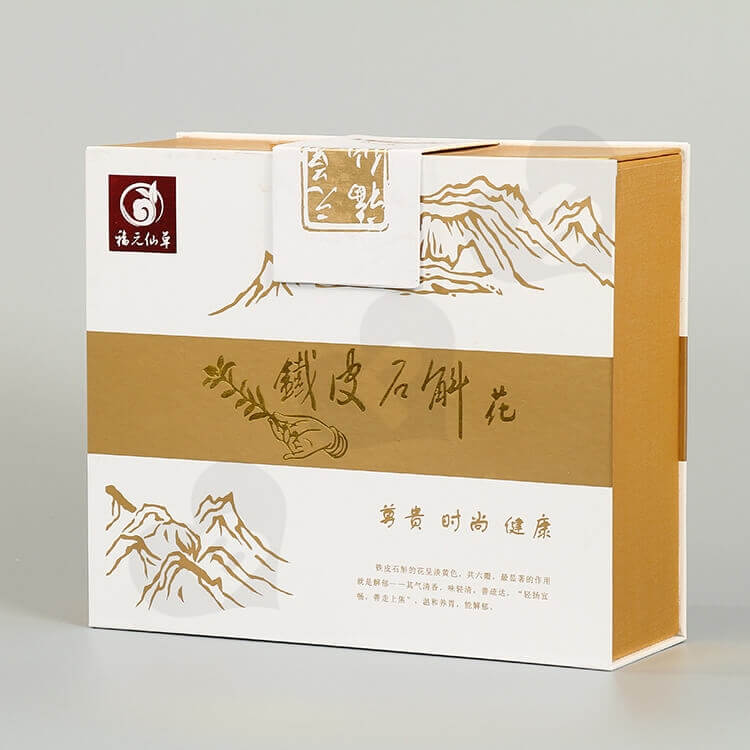 Custom Printing Gift Box For Health Medicine side view one