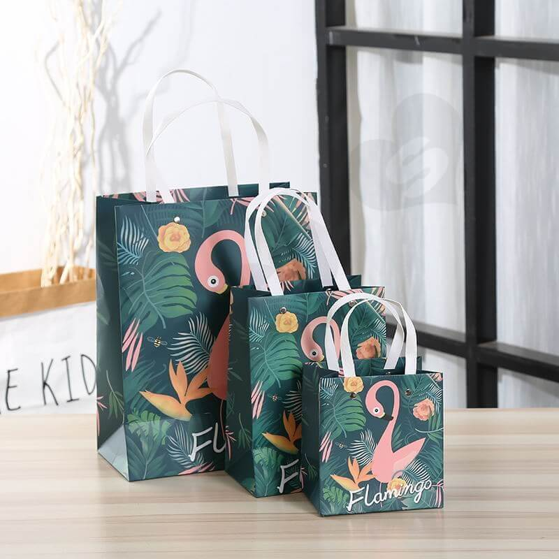 Custom Printing Gift Box with Paper Bag For Flamingo Toys side view seven