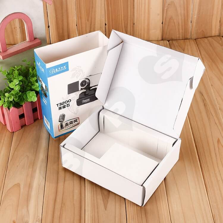 Custom Printing Mailer Box With Cardboard Sleeve For Wireless Camera side view one