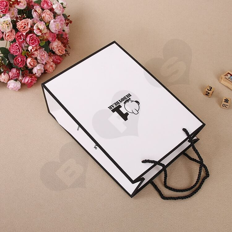 Custom Printing Shopping Bag For Thermos Cup side view two
