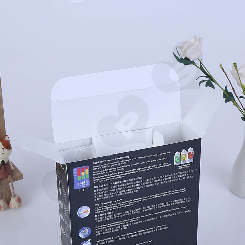 Custom Retail Packaging Box For Ear Thermometer side view five