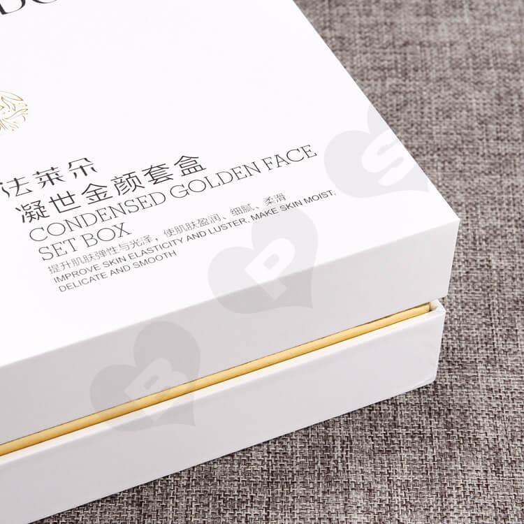 Custom Rigid Cosmetic Cardboard Gift Box side view two