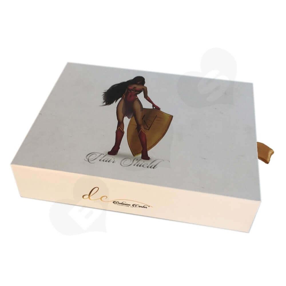 Custom Rigid Wig Drawer Box side view three