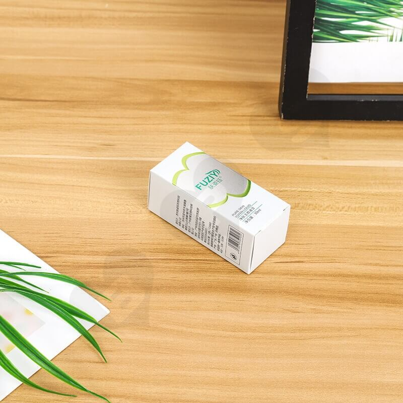 Custom White Cardboard Paper Box For Face Wash Gel side view five