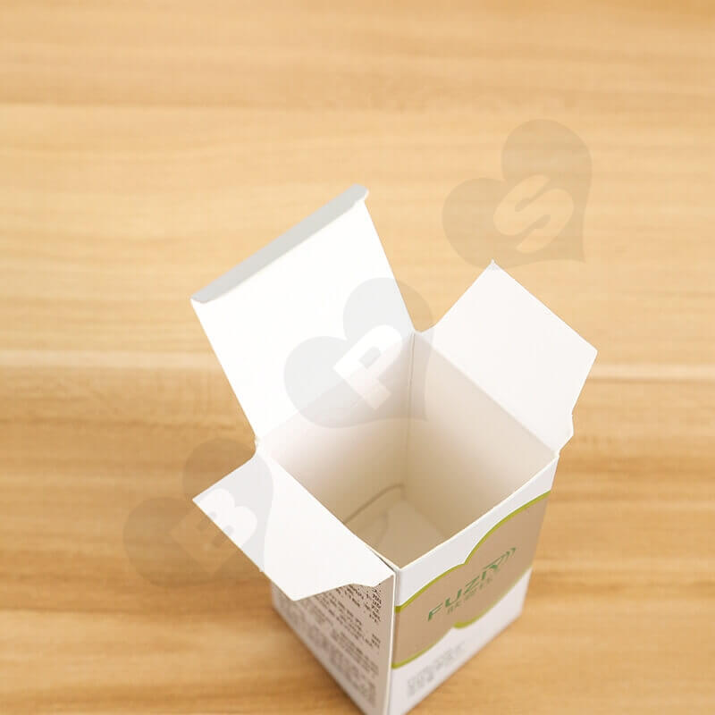Custom White Cardboard Paper Box For Face Wash Gel side view four