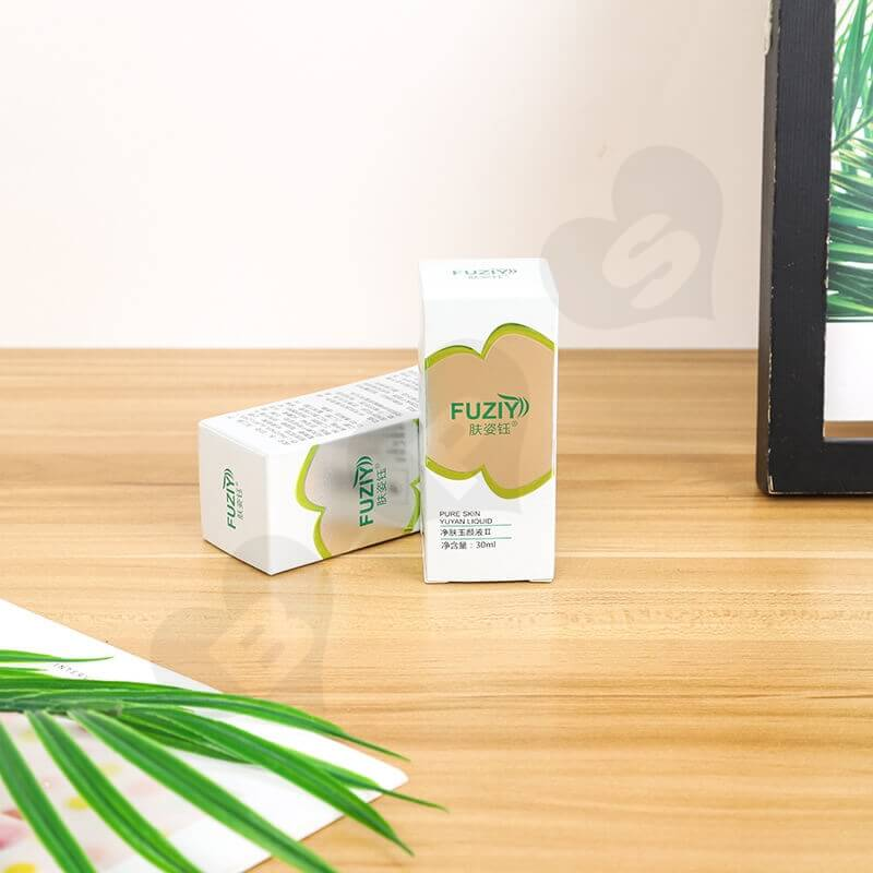 Custom White Cardboard Paper Box For Face Wash Gel side view one