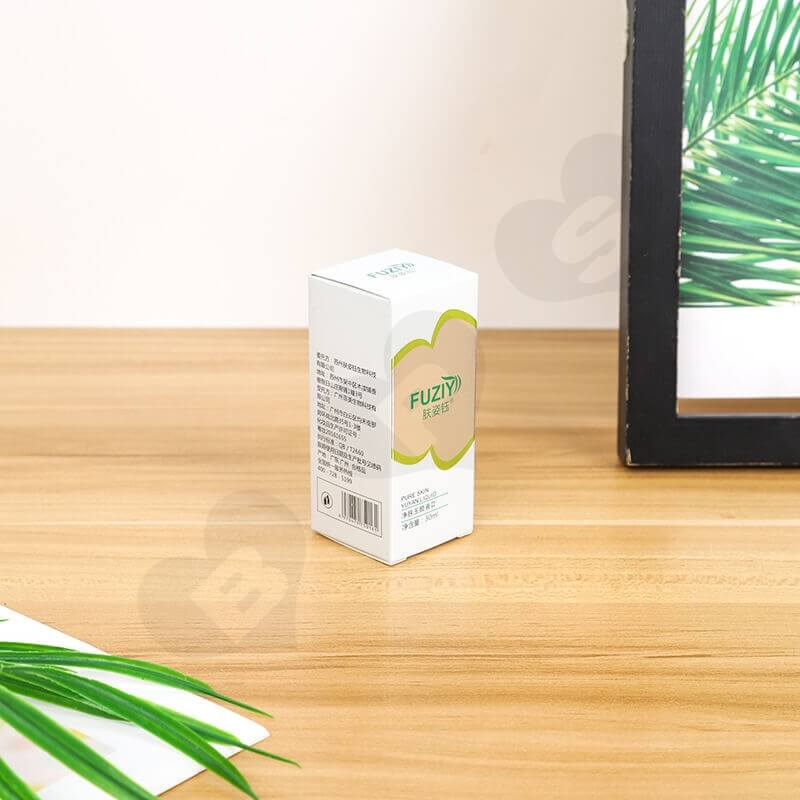 Custom White Cardboard Paper Box For Face Wash Gel side view three