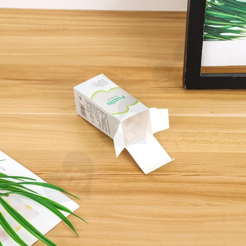 Custom White Cardboard Paper Box For Face Wash Gel side view two