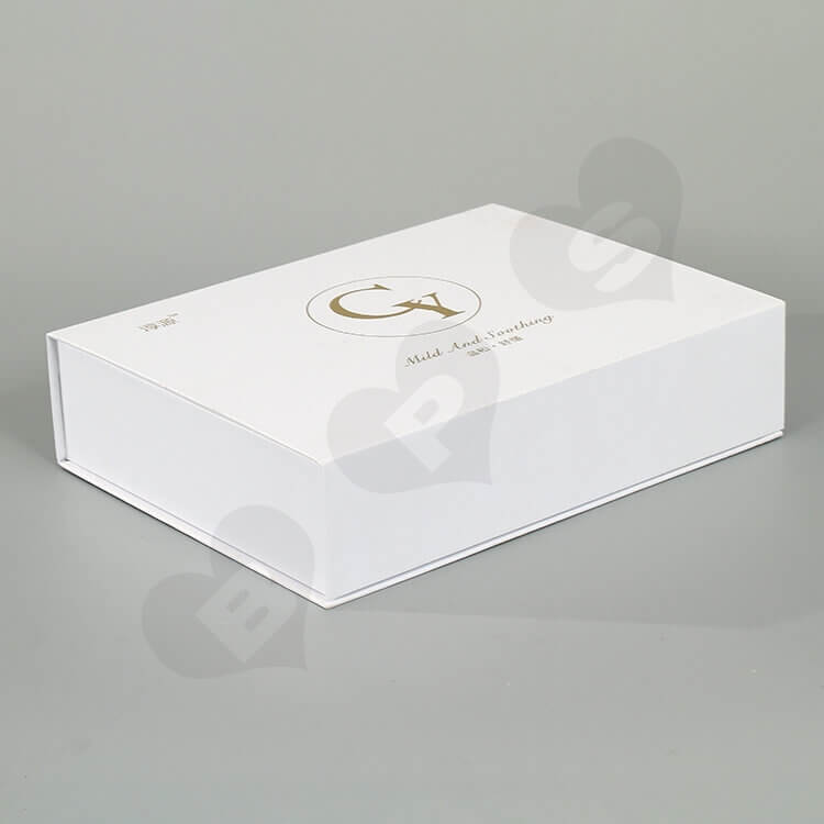 Custom White Printed Gift Box For Cosmetic side view four