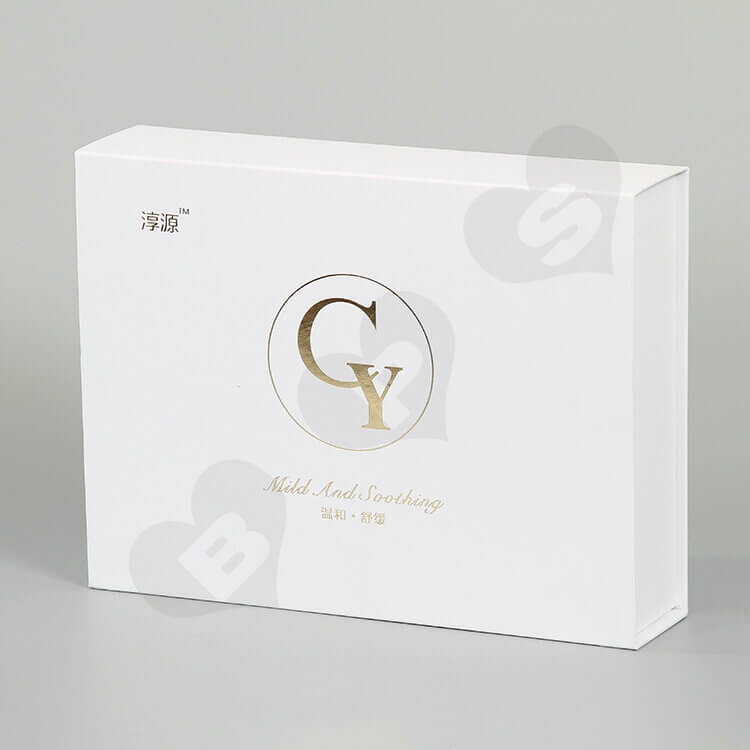 Custom White Printed Gift Box For Cosmetic side view six