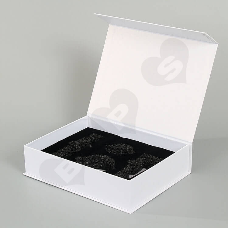 Custom White Printed Gift Box For Cosmetic side view two