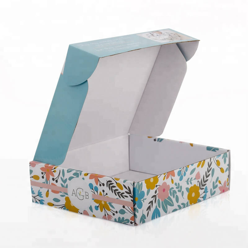 Custom cardboard mailer box for cosmetic products