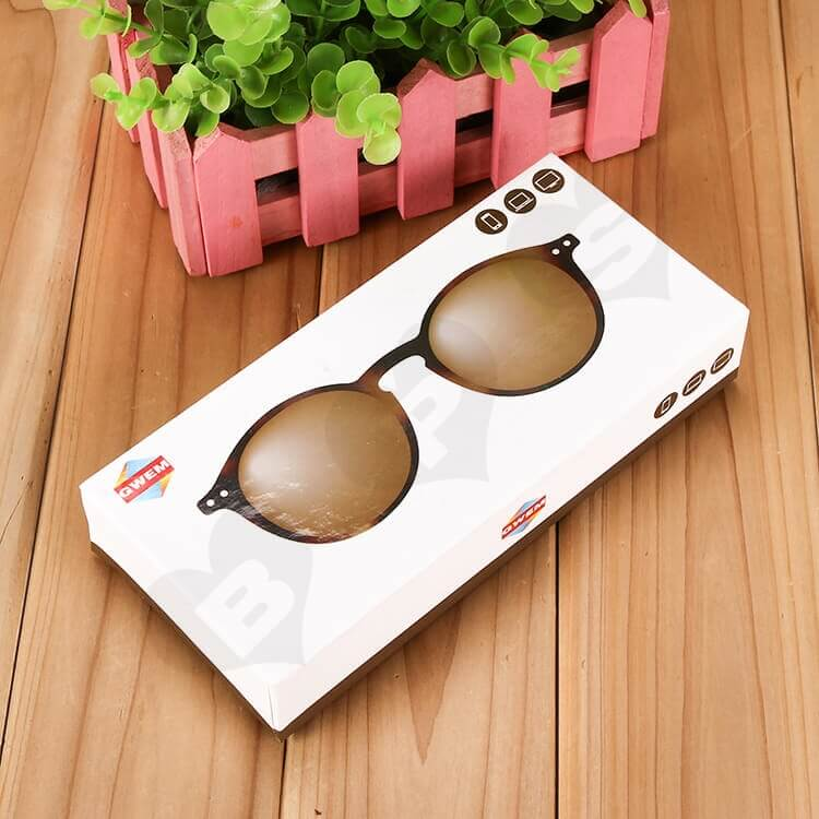 Customizable Printed Drawer Box For Sunglasses side view one