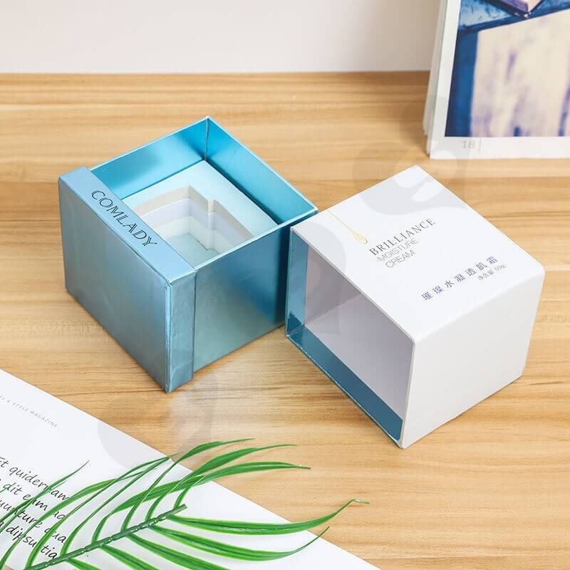 Customized Cardboard Gift Box For Moisture Cream side view five