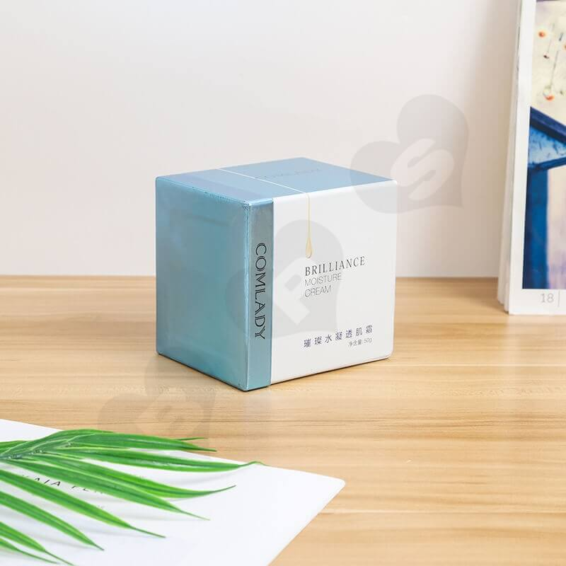 Customized Cardboard Gift Box For Moisture Cream side view one