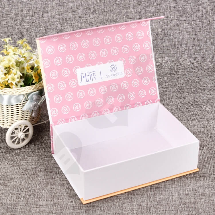 Customized Double Side Printing Magnetic Closure Box For Food side view one