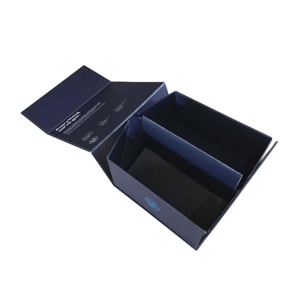 Customized Foldable Fabric Swatch Card Packaging Rigid Box side view six