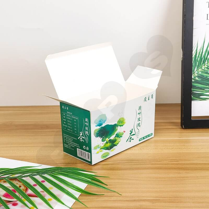 Customized Folding Carton Box For Lotus Leaf Rose Tea side view five