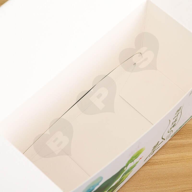 Customized Folding Carton Box For Lotus Leaf Rose Tea side view four