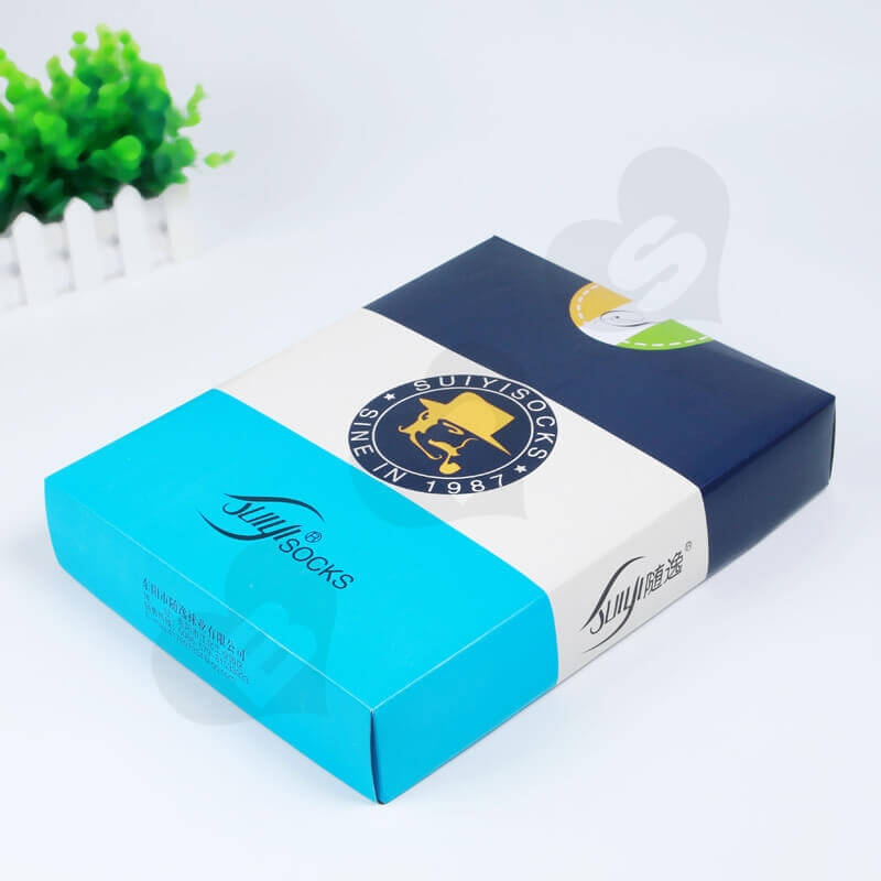 Customized Printing Sock Packaging Box side view three