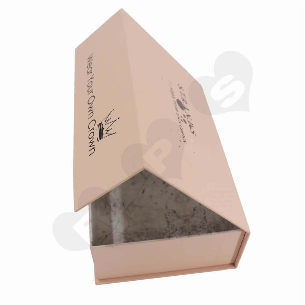 Double Side Printed Hair Extension Packaging Boxes side view two