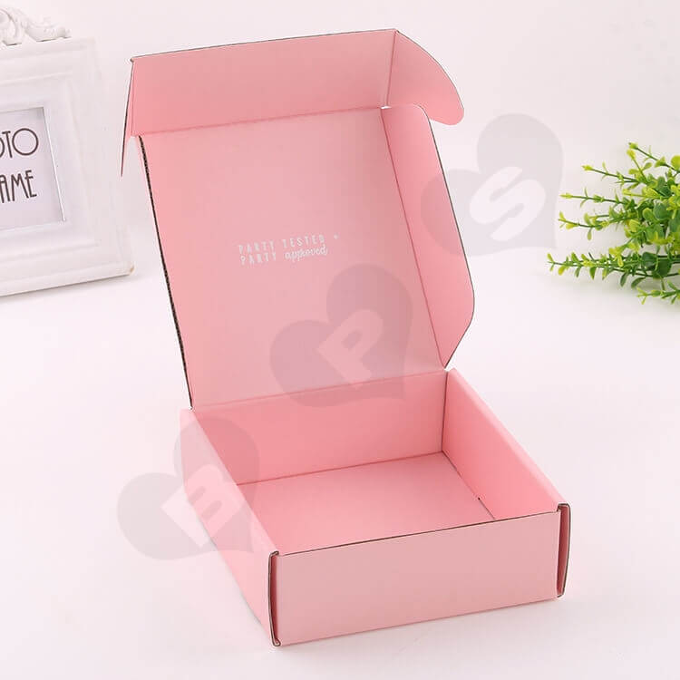 Double Side Printing Corrugated Box For Party Gift side view one
