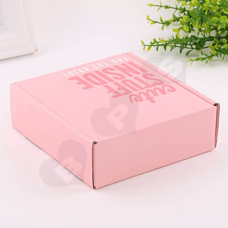Double Side Printing Corrugated Box For Party Gift side view three