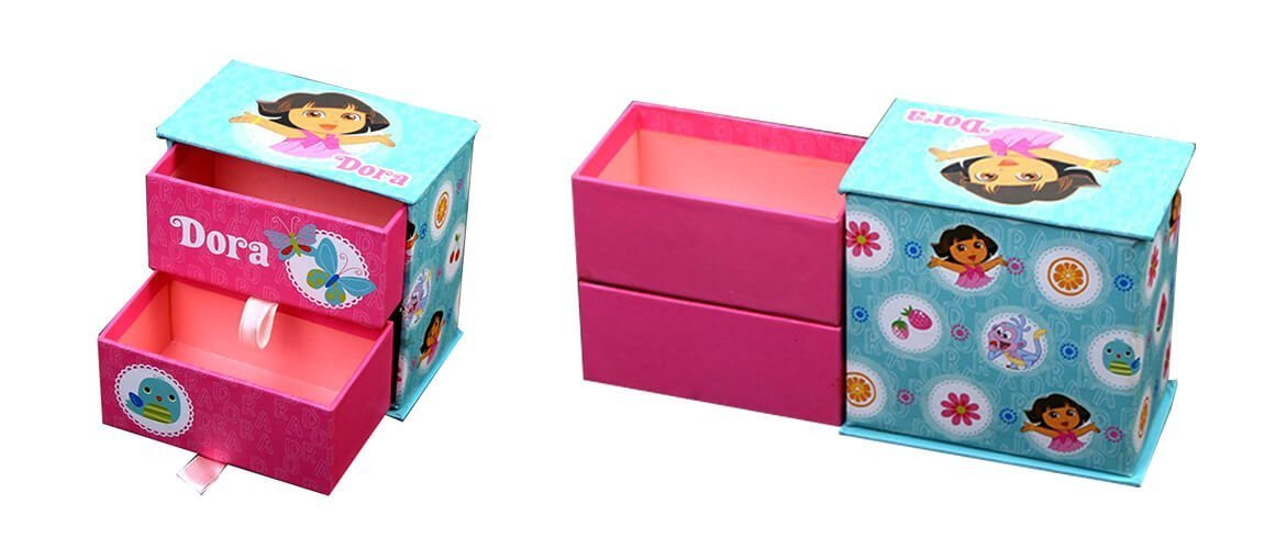 Double layer rigid cardboard drawer gift boxes