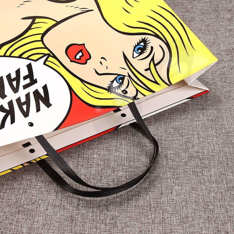 Fashion Style Shopping Bag Custom Printing side view four