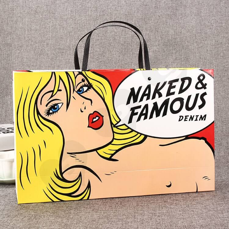 Fashion Style Shopping Bag Custom Printing side view one