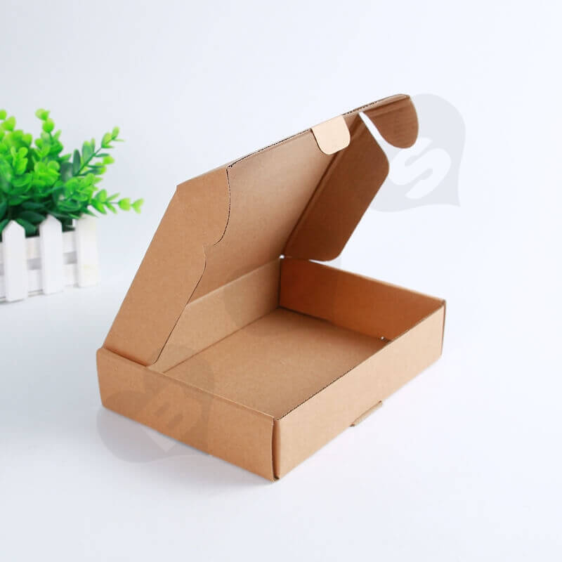 Flexo Printing Kraft Mailer Box For Electronic Products side view four