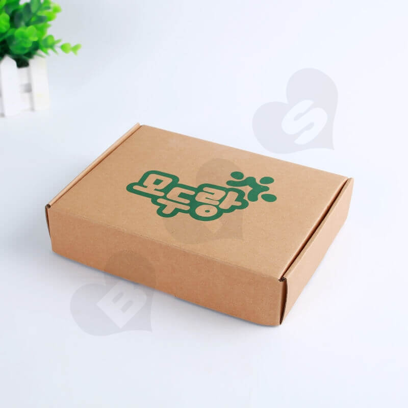 Flexo Printing Kraft Mailer Box For Electronic Products side view one